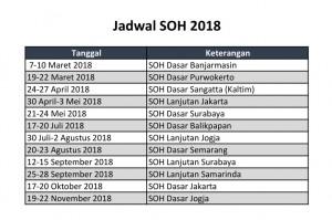 Jadwal SOH 2018
