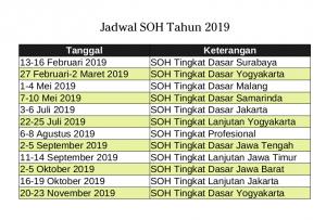 Jadwal SOH 2019